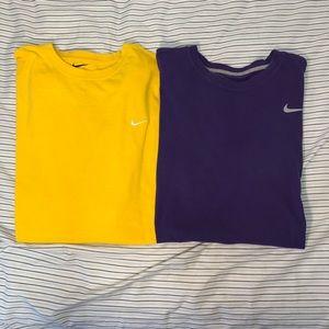 2/$11 Nike Dri-fit & Cotton T-Shirts
